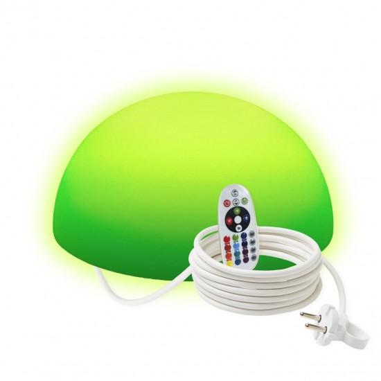 Полусфера светящаяся LED, 30*15 см., разноцветная (RGB), IP65, 220V