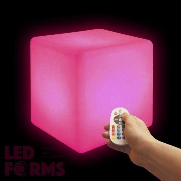 Cветильник беспроводной LED Куб 30 см., разноцветный RGB, IP68, USB, с аккумулятором