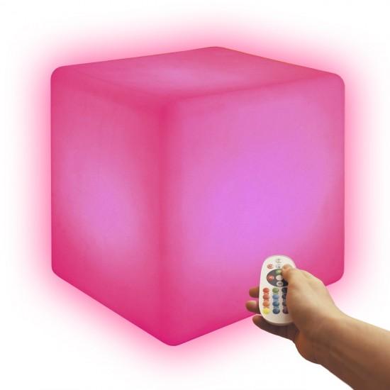 Cветильник куб беспроводной LED CUBE 40 см. разноцветный RGB с аккумулятором и пультом USB IP68 — Купить в интернет-магазине LED
