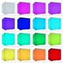 Cветильник беспроводной LED Куб 40 см., разноцветный RGB, IP68, USB, с аккумулятором