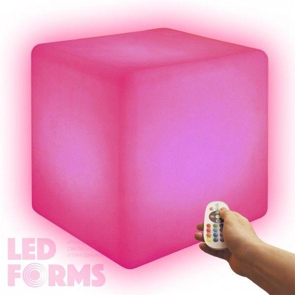 Cветильник беспроводной LED Куб 50 см., разноцветный RGB, IP68, USB, с аккумулятором