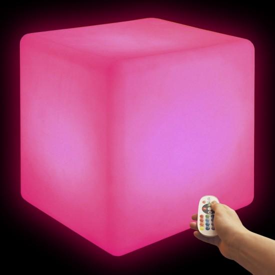 Cветильник беспроводной LED Куб 60 см., разноцветный RGB, IP68, USB, с аккумулятором