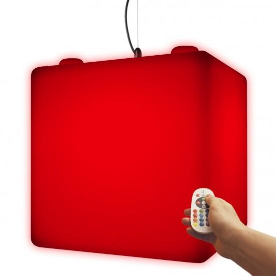 Куб подвесной светящийся LED, 50*50*50 см., разноцветный (RGB), пылевлагозащита IP65, 220V