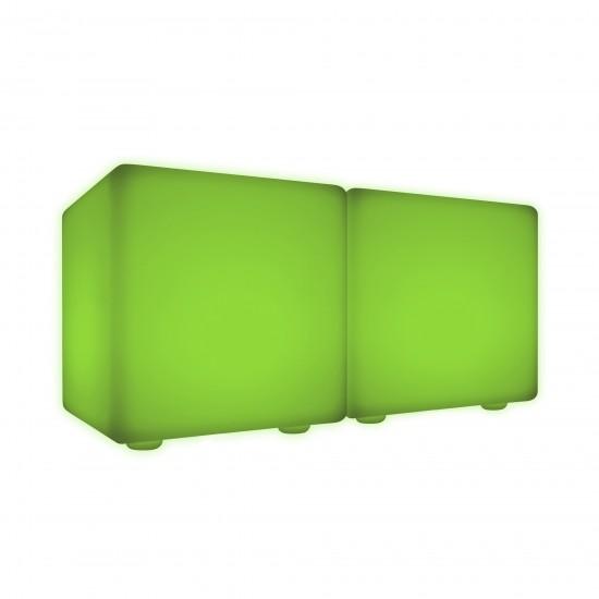 Скамейка со светодиодной подсветкой LED Cubes Double 40, разноцветная RGB, IP65 — Купить в интернет-магазине LED Forms