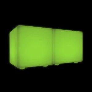 Скамейка со светодиодной подсветкой LED Cubix Double 40, RGB, IP65, 220V