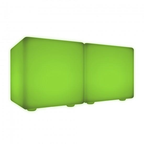 Скамейка со светодиодной подсветкой LED Cubes Double 50, разноцветная RGB, IP65 — Купить в интернет-магазине LED Forms