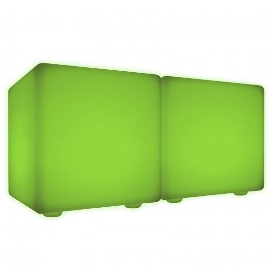 Скамейка со светодиодной подсветкой LED Cubes Double 60, разноцветная RGB, IP65 — Купить в интернет-магазине LED Forms