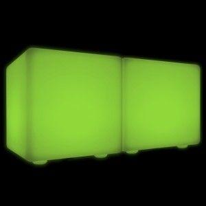 Скамейка со светодиодной подсветкой LED Cubix Double 60, RGB, IP65, 220V