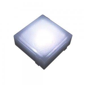 Плитка тротуарная светящаяся (светодиодная брусчатка) LED Brick, 100*100*40 мм., IP67, цвет белый