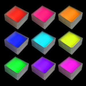 Светодиодная брусчатка LED LUMBRUS 100x100x60 мм. разноцветная RGB IP68 — Купить в интернет-магазине LED Forms