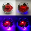 Светильник-цветы LED Secret (красная роза, синяя подсветка), USB