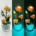 Светодиодные цветы LED Harmony, светильник-ночник, жёлто-красные розы + зелёная подсветка, USB, 220V