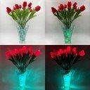 Светодиодные цветы LED Spring, светильник-ночник, красные тюльпаны + сине-зелёная подсветка, USB, 220V