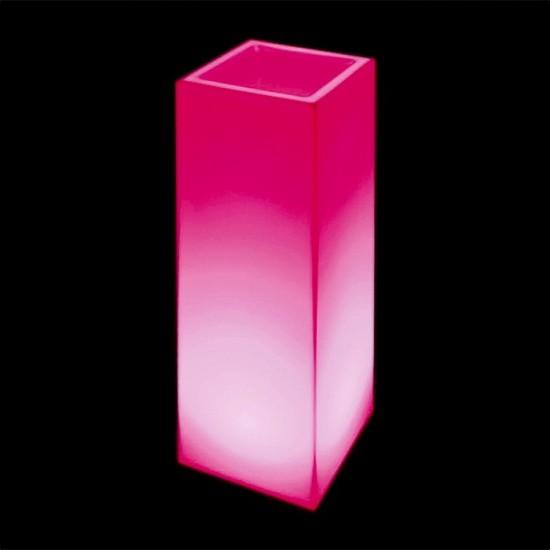 Кашпо светящееся (цветочница) LED Bergamo L, высота 90 см., светодиодное, разноцветное (RGB), 220V