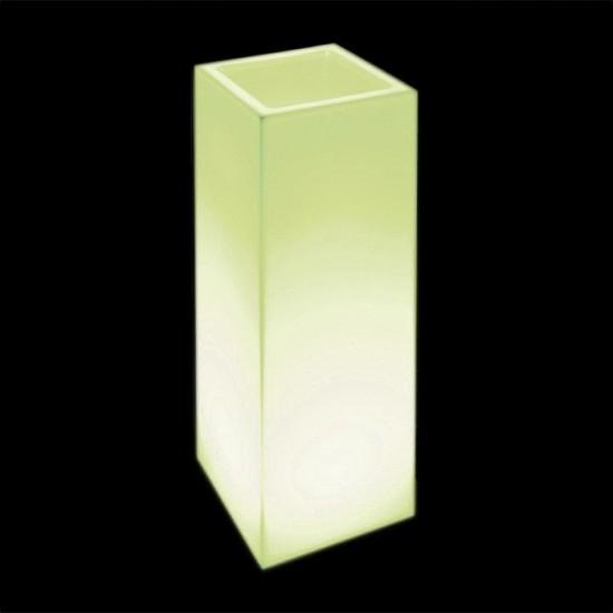 Кашпо светящееся (цветочница) LED Bergamo L, высота 90 см., светодиодное, цвет тёплый или холодный белый, 220V