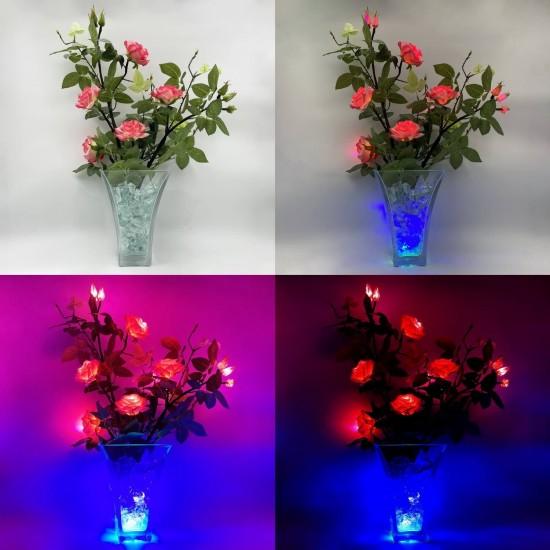 Светильник-цветы LED Dream (розовые розы, розово-синяя подсветка), USB