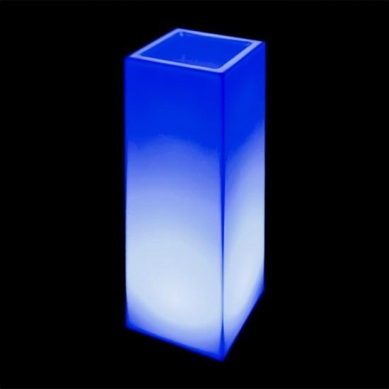 Кашпо светящееся (цветочница) LED Bergamo L, высота 90 см., светодиодное, разноцветное (RGB), встроенный аккумулятор