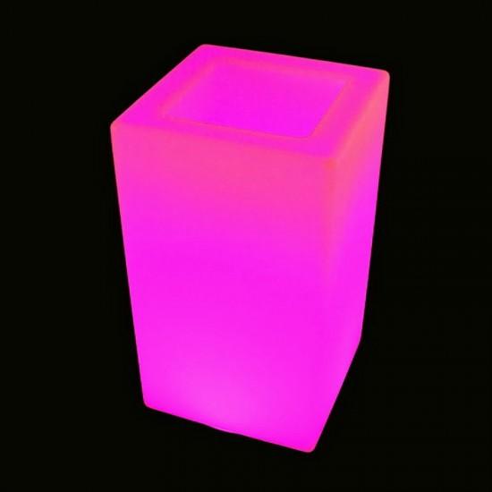Кашпо светящееся (цветочница) LED Bergamo M, высота 71 см., светодиодное, разноцветное (RGB), 220V