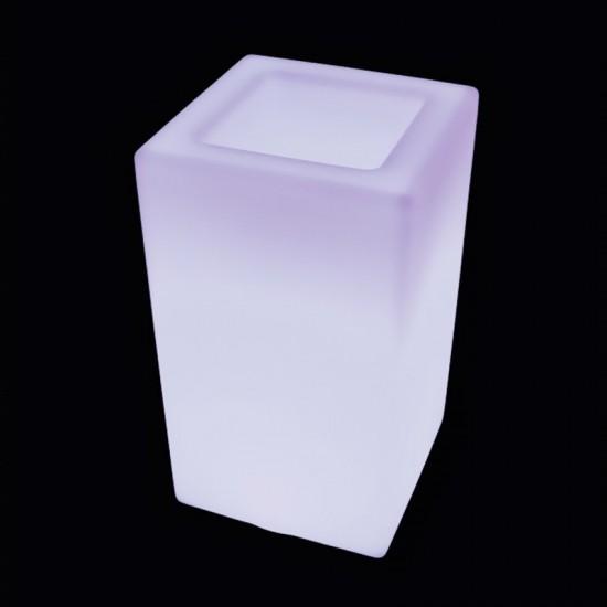 Кашпо светящееся (цветочница) LED Bergamo M, высота 71 см., светодиодное, цвет тёплый или холодный белый, 220V