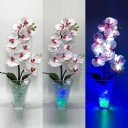 Светильник-цветы LED Inspiration (белые орхидеи, сине-зелёная подсветка), USB