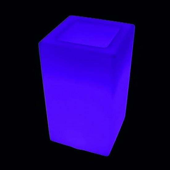 Кашпо светящееся (цветочница) LED Bergamo M, высота 71 см., светодиодное, разноцветное (RGB), встроенный аккумулятор