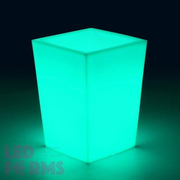 Кашпо светящееся (цветочница) LED Bergamo S, высота 70 см., светодиодное, разноцветное (RGB), 220V
