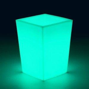 Кашпо с подсветкой для цветов LED Bergamo S, разноцветное RGB, 220V