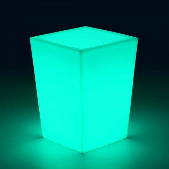 Светящееся кашпо для цветов LED BERGAMO S c разноцветной RGB подсветкой и пультом ДУ IP65 220V — Купить в интернет-магазине LED