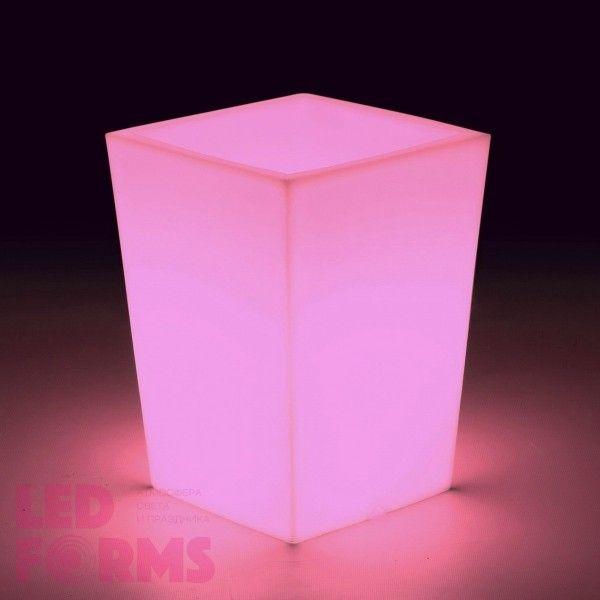 Кашпо светящееся (цветочница) LED Bergamo S, высота 70 см., светодиодное, разноцветное (RGB), встроенный аккумулятор