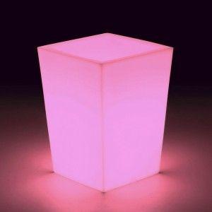 Кашпо с подсветкой для цветов LED Bergamo S, разноцветное RGB, с аккумулятором