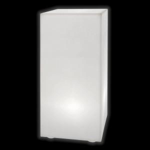 Тумба светящаяся LED Bora M, 30*30*90 см., светодиодная, цвет белый, 220V