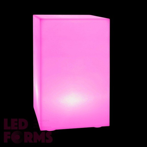 Световая тумба с аккумулятором LED DESK 70 см. с разноцветной RGB подсветкой и пультом USB IP65 — Купить в интернет-магазине LED