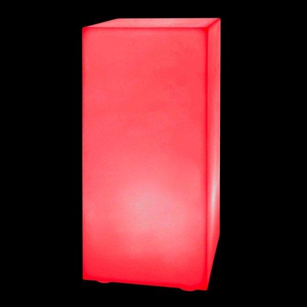 Тумба светящаяся LED Bora M, 30*30*90 см., светодиодная, разноцветная (RGB), встроенный аккумулятор