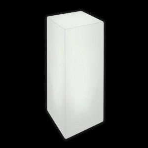 Тумба светящаяся LED Bora M, светодиодная, цвет белый, 220V