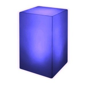 Тумба светящаяся LED Bora S, светодиодная, разноцветная RGB, с аккумулятором