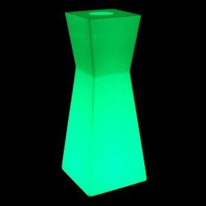 Светящаяся стойка ресепшн с аккумулятором LED PRISM с разноцветной RGB подсветкой и пультом USB IP65 — Купить в интернет-магазин