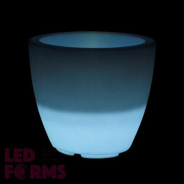 Кашпо светящееся (цветочница) LED Almelo S, высота 44,5 см., светодиодное, разноцветное (RGB), пылевлагозащита IP65