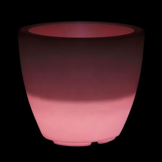 Кашпо светящееся (цветочница) LED Almelo L, высота 53,5 см., светодиодное, разноцветное (RGB), пылевлагозащита IP65