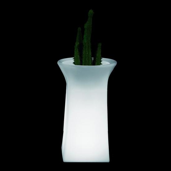 Кашпо светящееся (цветочница) LED Helmond L, высота 98 см., светодиодное, разноцветное (RGB), пылевлагозащита IP65
