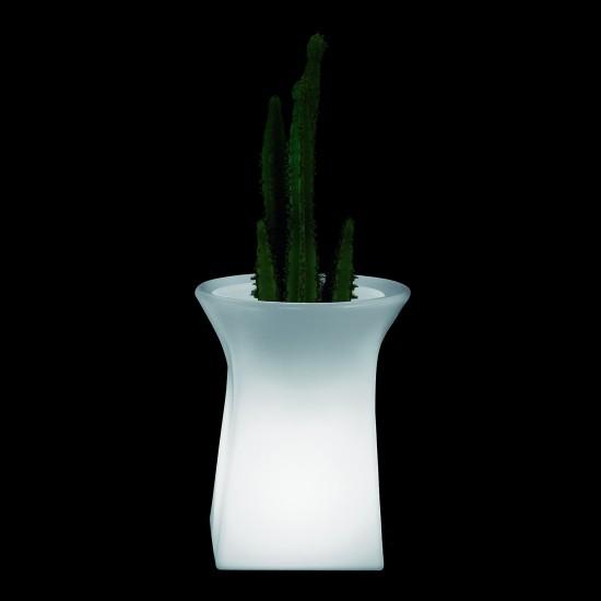 Кашпо светящееся (цветочница) LED Helmond M, высота 70 см., светодиодное, разноцветное (RGB), пылевлагозащита IP65