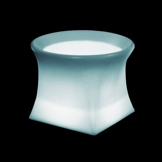 Кашпо светящееся (цветочница) LED Helmond S, высота 40 см., светодиодное, разноцветное (RGB), пылевлагозащита IP65