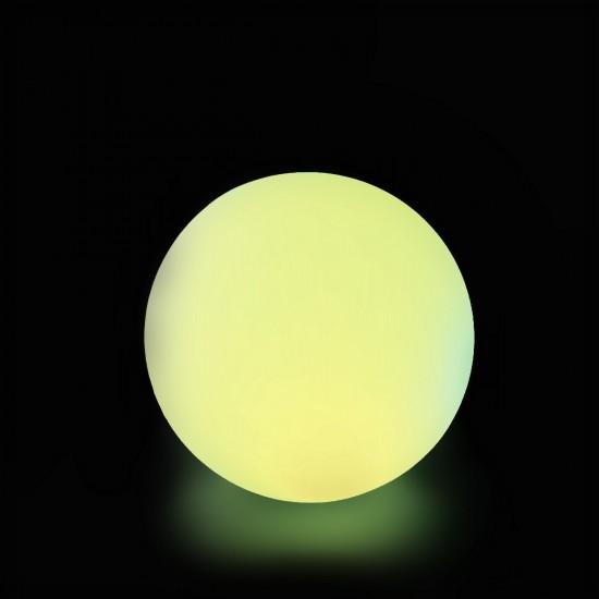 Cветильник шар беспроводной LED MOONBALL 20 см. разноцветный RGB с аккумулятором и пультом USB IP68 — Купить в интернет-магазине
