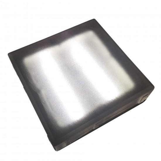 Светодиодная тротуарная плитка LED LUMBRUS 200x200x60 мм. белая IP68 — Купить в интернет-магазине LED Forms