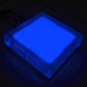 Светодиодная тротуарная плитка LED Lumbrus, 200x200x60 мм., одноцветная синяя, IP68
