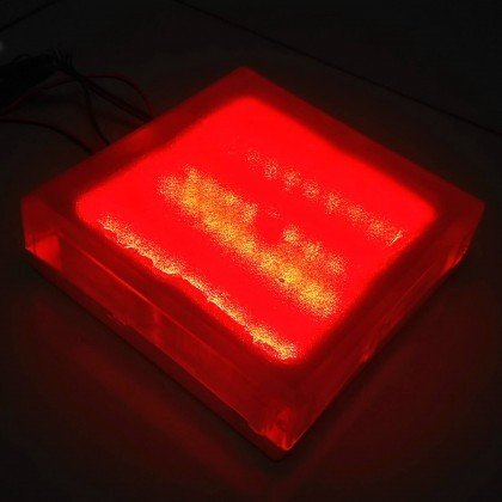 Светодиодная тротуарная плитка LED LUMBRUS 200x200x60 мм. красная IP68 — Купить в интернет-магазине LED Forms