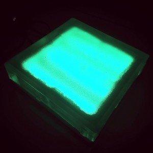 Светодиодная тротуарная плитка LED Lumbrus, 200x200x60 мм., одноцветная зелёная, IP68