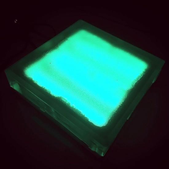 Светодиодная тротуарная плитка LED LUMBRUS 200x200x60 мм. зелёная IP68 — Купить в интернет-магазине LED Forms
