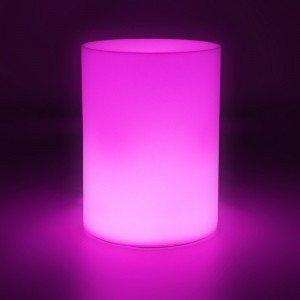 Cветильник цилиндр беспроводной LED CYLINDER разноцветный RGB с аккумулятором и пультом USB IP68 — Купить в интернет-магазине LE