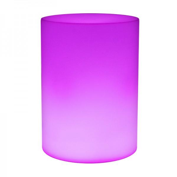 Cветильник цилиндр LED CYLINDER разноцветный RGB с пультом ДУ IP65 220V — Купить в интернет-магазине LED Forms