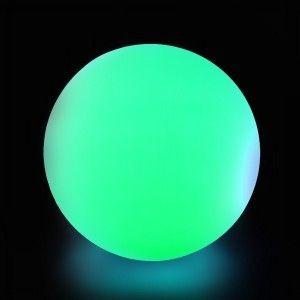 Cветильник шар беспроводной LED MOONBALL 50 см. разноцветный RGB с аккумулятором и пультом USB IP68